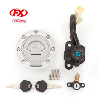 FX CNC Motorcycle Ignition Switch Fuel Gas Cap Lock Ignition Switch Lock Seat Lock Keys For