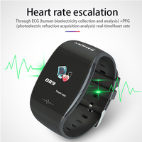 Smart Bracelet heart rate monitor Fitness Tracker man woman wristband remote camera long standby ECG+PPG Smart band pk mi band 3