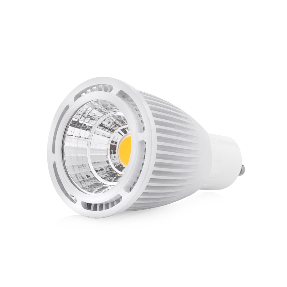 Free shipping 4pc/lot 110Vac or 220Vac Dimmable 3W 5W 7W LED Spotlight GU10 COB LED Spot Lighting
