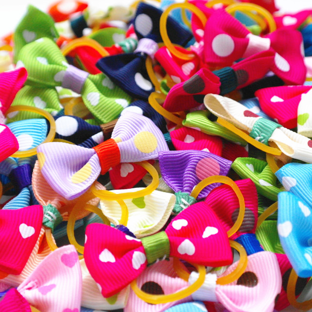 Girls' Clothing 300pcs/lot Handmade Cute Red Polka Dot Puppy Dog Hair Bows Free Shipping To Ensure A Like-New Appearance Indefinably