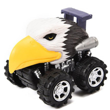 Mini Vehicle Animal Pull Back Cars With Big Tire Wheel Creative Gifts For Kids Animal Style Car Model Mini Toy Car pull back car mini fire engineering cars model funny vehicle car toy kids toys pull back cars for children boys christmas gifts