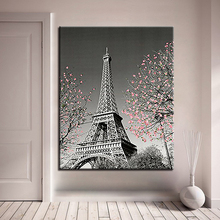 Paris Tower DIY Oil Painting By Numbers Drawing Coloring Abstract Scenery Pictures On Canvas For Living Room Wall Art Home Decor