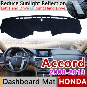 for Honda Accord 8 2008 2009 2010 2011 2012 2013 Anti-Slip Mat Dashboard Cover Pad Sunshade Dashmat Cape Rug Carpet Accessories