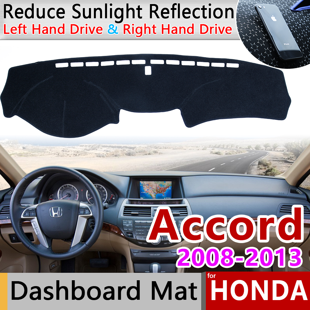 for <font><b>Honda</b></font> <font><b>Accord</b></font> <font><b>8</b></font> 2008 2009 2010 2011 2012 2013 Anti-Slip Mat Dashboard Cover Pad Sunshade Dashmat Protect Carpet Accessories image
