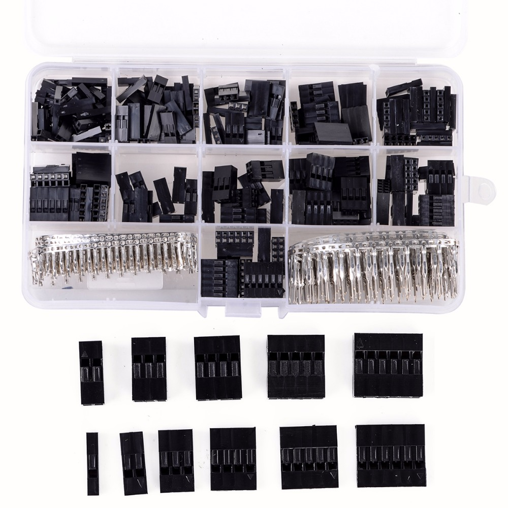 New 620pcs/set Wire Cable Jumper Pin Header Connector Housing Kit +M/F Crimp Pins with Box 620pcs dupont wire cable jumper pin header connector housing kit male crimp pins female pin connector terminal pitch with box