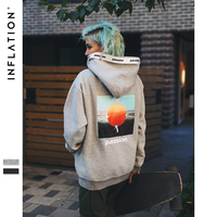INFLATION Passio Letter Printed Drawstring Hoodies Streetwear Hip Hop Hoody Mens Hoodies and Sweatshirts High Street 8781W