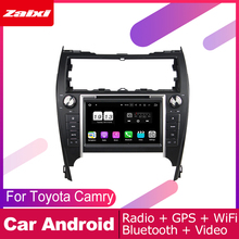 ZaiXi For Toyota Camry (XV50) 2012~2017 Car Android Multimedia System 2 DIN Auto DVD Player GPS Navi Navigation Radio Audio WiFi очки 3d palmexx px 101plus 3d px 101 dlp link