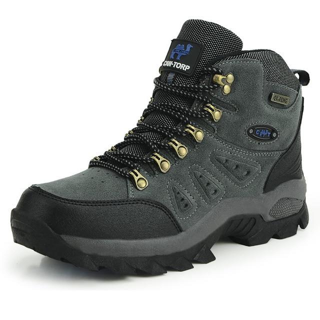 Tinggi Dipotong Unisex Hiking Sepatu Wearable Bernapas Pria Outdoor Sepatu  Karet Wanita Trekking Sepatu Mendaki Gunung 846074cc4d