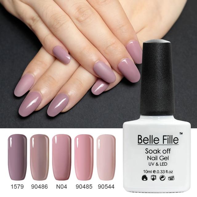 Belle Fille UV Gel Nail Polish Nude Gel Semi Permanent Lacquer Nail Art  Design Soak Off - Belle Fille UV Gel Nail Polish Nude Gel Semi Permanent Lacquer Nail