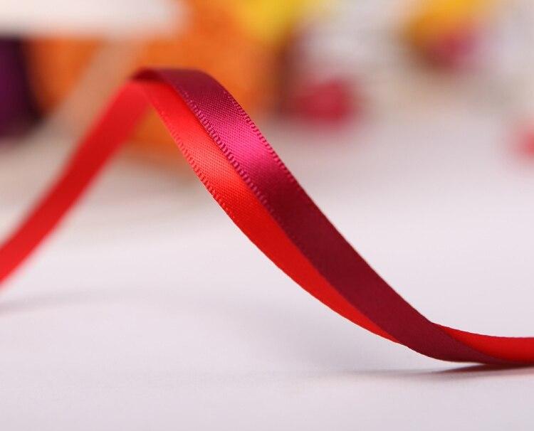 """[IuBuFiGo] 1/""""(6 мм) двусторонняя атласная лента для ручной работы сатин 100 ярдов/лот"""