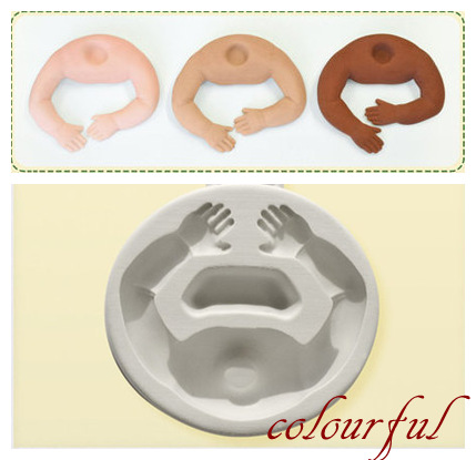 child body silicone fondant cake mold face head gum paste sugarcarft tool