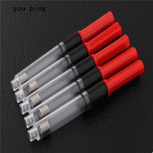 5pcs Red colour ink cartridge Accessories Tool fountain Pen