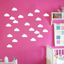 DIY Kids Room Decoration 50 Little Cloud Wall Stickers Nursery Art Home Decor Sticker Vinyl Clouds Mural Y-175