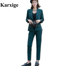 2017 Autumn Loaded With New Classic Version Collar Design Three Color Strip Cuff Fashion Trends Women Temperament Lady Suit