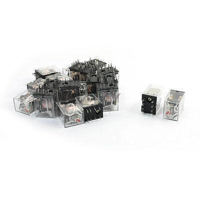 20pcs MY2J HH52P AC 220/240V DPDT 2NO 2NC 8 Pin General Purpose Power Relay
