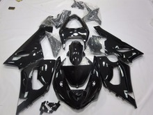ZXMT BodyWork Full Fairing Kit for KAWASAKI NINJA ZX 6R ZX-6R ZX6R ZX636 636 2005 2006 ABS Injection Gloss Black недорого