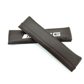 2pcs Auto Seatbelt Shoulder Protection Padding Winter Summer Car Seatbelts for Mercedes Benz  GLK AMG LOGO car styling