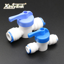 "1/4"" 3/8"" OD Tube PE Pipe Fitting Hose Straight Backwash Controlled Ball Valve Aquarium RO Water Filter Reverse Osmosis System"