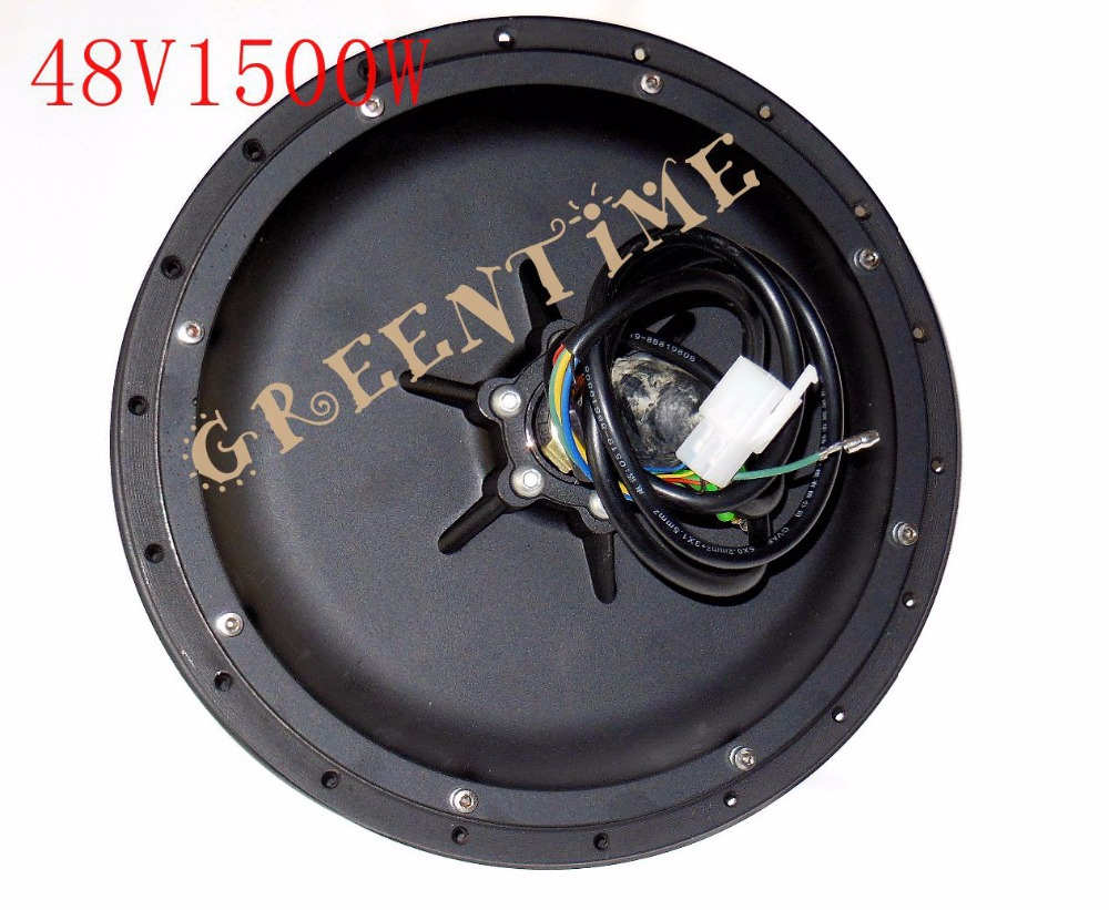E-bike Hub Spoke Motor 48V 1500W Brushless DC Rear Wheel - Greentime Technology Co.,LIMITED store