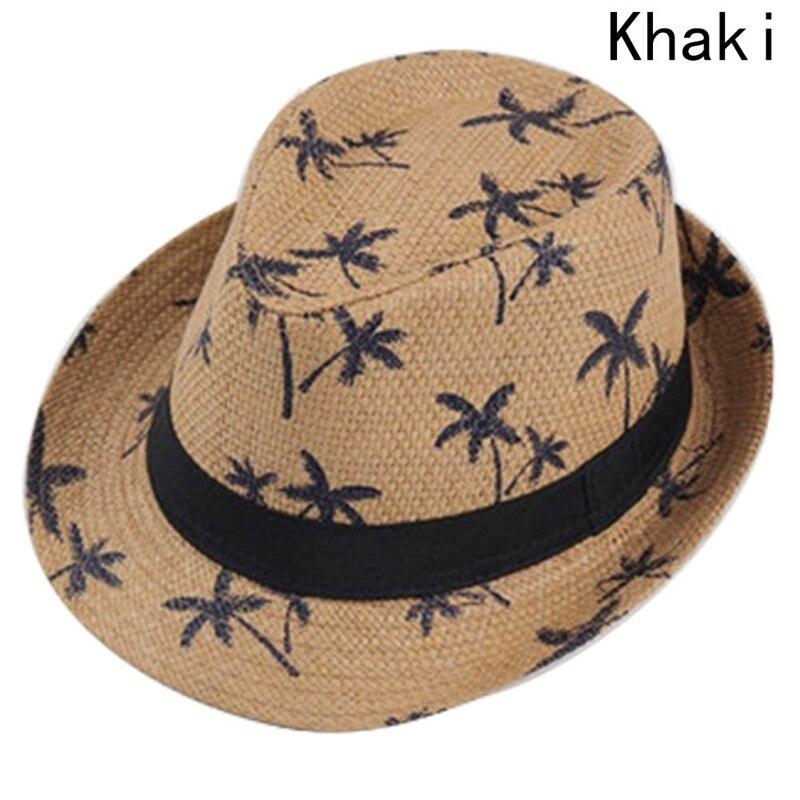 Sombreros de paja de verano para niño sombrero Panamá árbol de coco ... f5fbfa56065