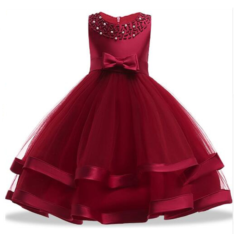 Flower Girls Diamond Lace Sequined Gown Princess Children Girl Gress For Wedding 3-14 Years Girls Birthday Party Prom Dresses стоимость