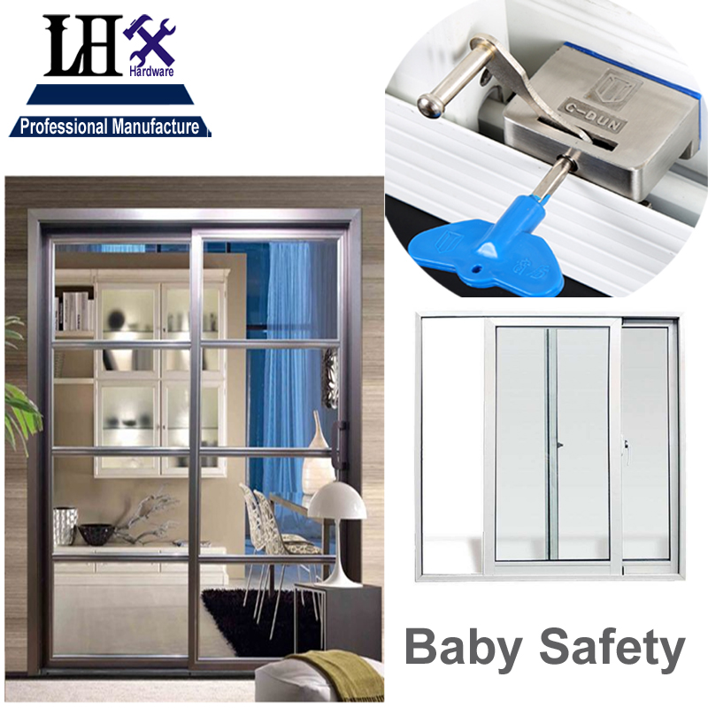 LHX MS531 Baby Safety Stainless Latch Lock for Sliding Door Balcony Window Dead Bolt Home Security Bathroom Accessories i