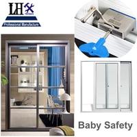 LHX MS531 אל חלד בטיחות תינוק מנעול סגר לדלת הזזה חלון מרפסת המלח בורג אבטחת בית אביזרי אמבטיה אני