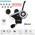 T-rex 1500 m full duplex capacete da motocicleta do bluetooth interfone headset 8-way sistema de discussão do grupo bt interphone moto communicatio + fm