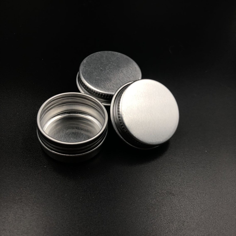 2000pcs 10g Empty Aluminium Cosmetic Containers Pot Base Lip Balm Jar Tin For Cream Ointment Hand