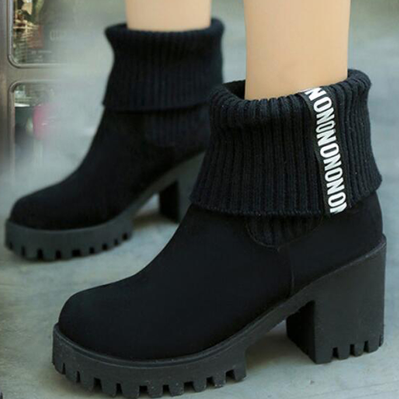 Online Get Cheap Chunky Heel Booties -Aliexpress.com | Alibaba Group