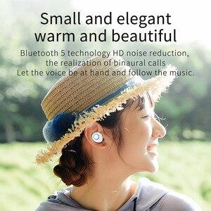 Image 2 - Bezprzewodowe słuchawki Bluetooth 5.0 TWS dźwięk radia 3D słuchawki douszne Auto Connect bezprzewodowy telefon Mini słuchawki basowe