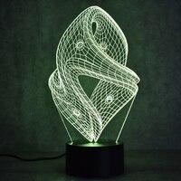 Creative Pendant Ornaments Lamp 3D Led Visual Colorful Abstract USB Table Lamp Lampara Baby Sleeping Night