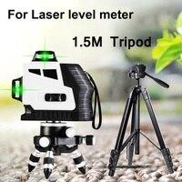 1.5 متر ترايبود ل قياس مستوى الليزر تعديل ارتفاع الألومنيوم التلقائي 360 درجة الاستواء للمباني علامة أدوات