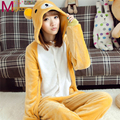 Adults Flannel Onesies Cute Cartoon Animal Bear Pajamas Pyjamas Cosplay Party Costume Sleepwear Homewear For Men Women