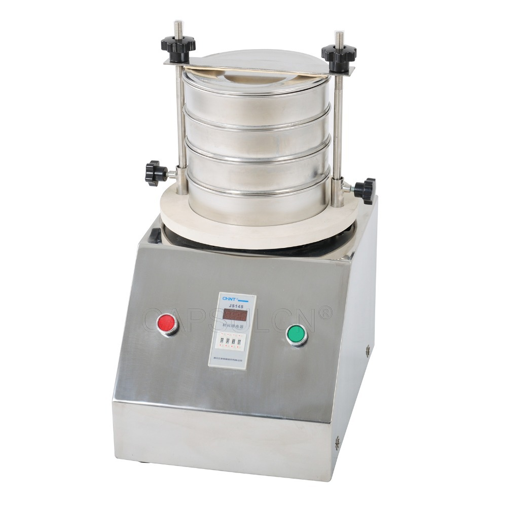SY-200 Solid, Powder Liquid Vibrating Sieve Machine, Laboratory Shaker / Powder Sifting Machine / Vibrating Screen electrostatic powder coating machine powder injector pump insert sleeve
