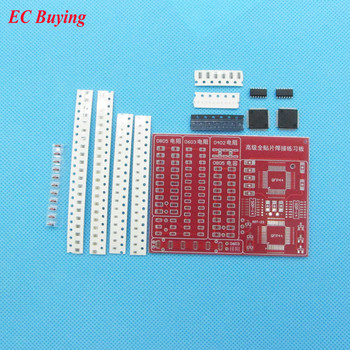 SMD Component Soldering Practice Training Board PCB Electronic DIY Kit