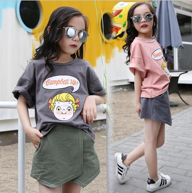 8013f95551e2 China children clothes sets girl fashion clothing outfits t shirt skirt fashion  kids korea boutique kids clothing two piece set
