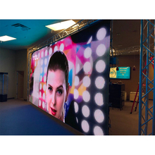 Kolay kurulum P6mm 576x576mm döküm alüminyum kabin iç mekan Led ekran paneli, Led Video duvar, tam renkli Led ekran