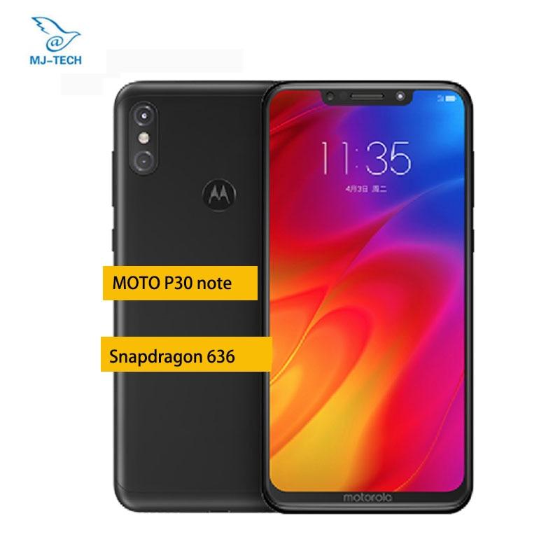 Motorola MOTO one power P30 Note 6G 64G Smartphone 6 2 Inch 1080P Snapdragon 636 Octa