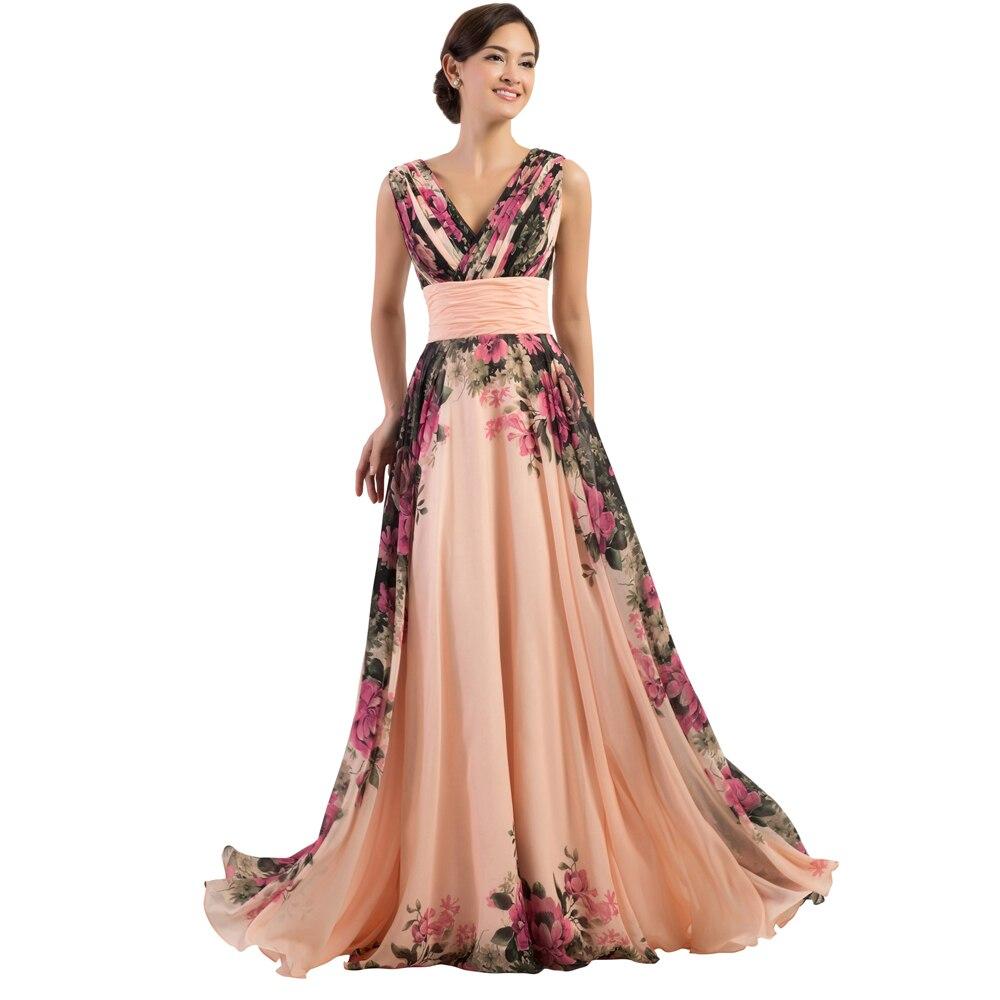 Online Get Cheap Long Floral Evening Dresses -Aliexpress.com ...