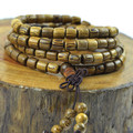 Barrel bead bracelet wholesale beads 6-8mm stupa with prayer beads bracelets authentic wood bracelet wristband 0384