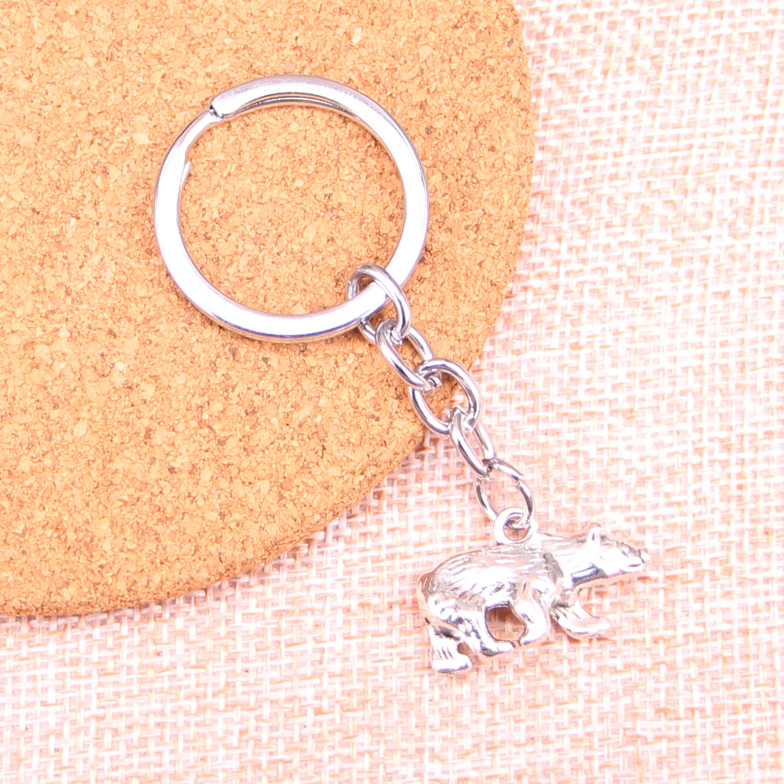New Arrival bear california Charm Pendant Keychain Key Ring Chain Accessories Jewelry Making For Gifts(China)