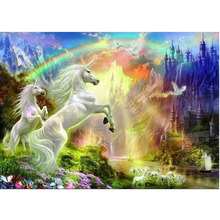 unicorn diamond Embroidery diy painting mosaic diamant 3d cross stitch picture H708