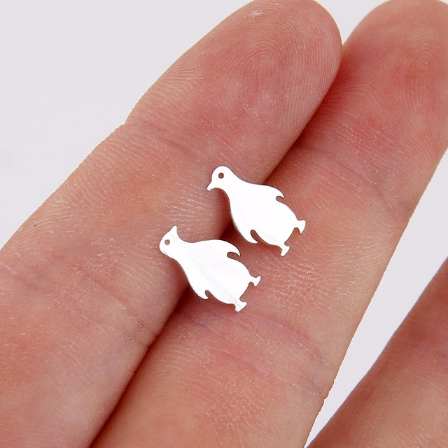 Jisensp New Cartoon Penguin Animal Stud Earrings For Women Girl Gift Jewelry Accessories Trending Products brincos Piercing Ear