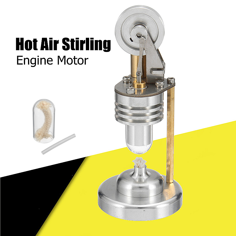 Mini Hot Air Stirling Engine Motor Model Electricity Generator Educational Toy