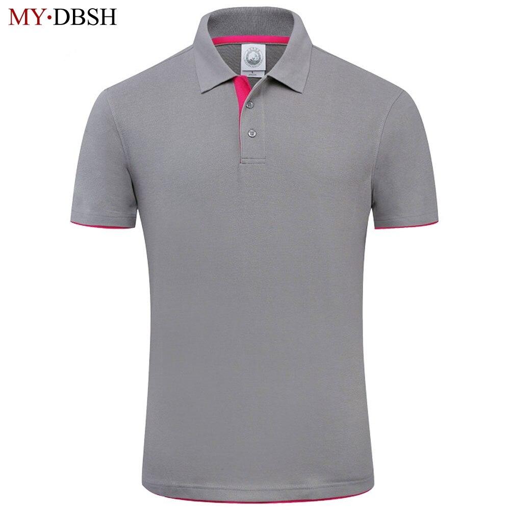Nuovo 2018 MYDBSH Marca Polo Per Gli Uomini Del Progettista Degli Uomini di Polo camicia di Cotone Morbido Manica Corta Polo Uomo Famoso Marchio di Abbigliamento