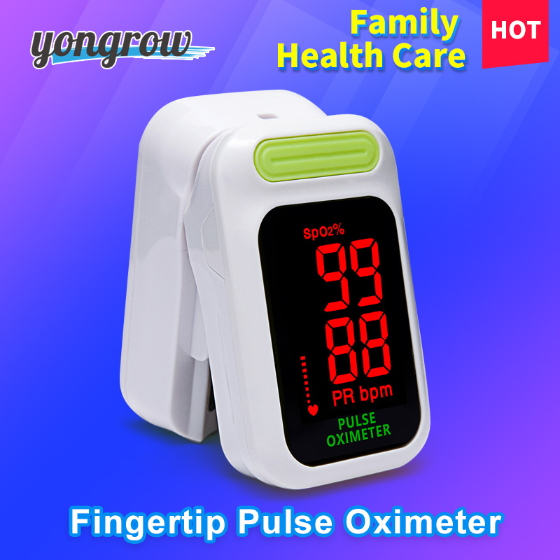 Yongrow Medical Digital Fingertip Pulse Oximeter Blood Oxygen Saturation PR Monitor SpO2 high Accurate Family Health Care CE