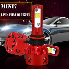 Mini7 LED Car Headlight 9600LM 60W H7 H4 H1 H11 H3 H27 880 9006 9007 72W 6500K 12V 24V 36V Auto Headlamp Fog Light Bulb(China)