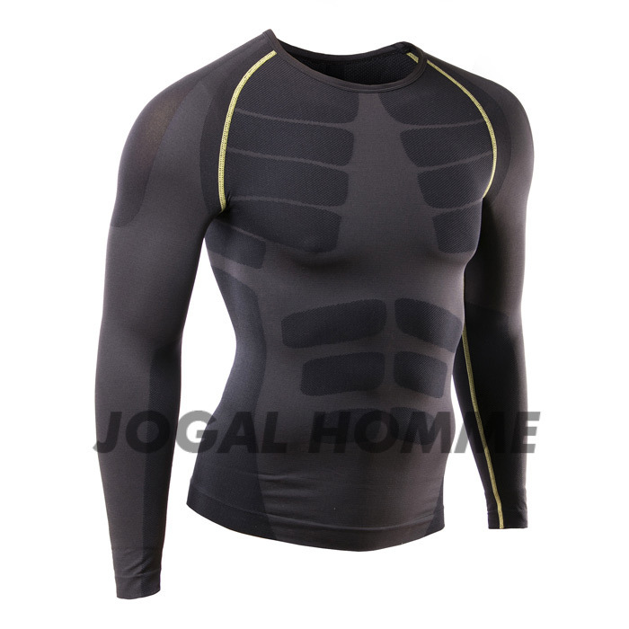 Men Base Layers Tops Compression Shirt Long Sleeve Basketball Training Sports Shirt Running Baselayer Mens Compression Gym Long Sleeve Running Comfortable Workout T-Shirt Color : Blue , Size : S
