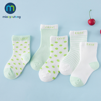 5 pair/lot 10pcs Knit Breathable Mesh Cotton Soft Skarpetki Newborn Socks Kids Boy Girl Baby Socks Meia Infantil Miaoyoutong 1